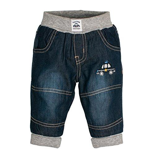SALT AND PEPPER Baby-Jungen NB Jeans Fun Time Blau (Original 099), 68