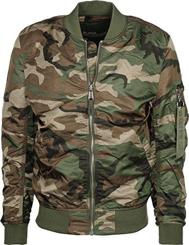 Alpha Industries Herren Jacke MA-1 VF LW Camouflage