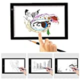 funwill LED Transparentpapier Licht Box A4Zeichenblock Tisch Schablone, Display USB Ultradünn Zeichnen leicht Pad für Tattoo Zeichnen, skizzieren