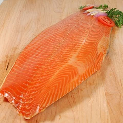 Premium Side of Scottish Smoked Salmon Sliced (long-sliced) +/-1.2