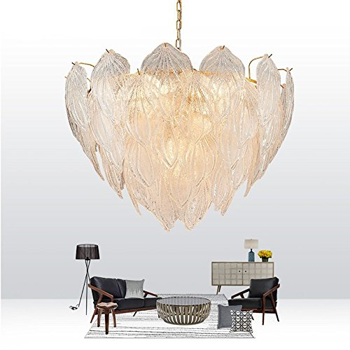 Nordico moderno, design articoli in foglio di vetro di murano, creativi e di camere da letto salone ristorante bar club sostenitori della lampada da soffitto lampadario lanterne illuminazione lampade (dimensioni: 80*53 cm).