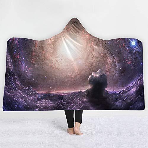 FimGGe Planet Manta con Capucha Impreso en 3D Fleece Throw On Bed Sofá  Starlight Felpa Mantas para Adultos Kid Textiles para el hogar-130cm * 150cm