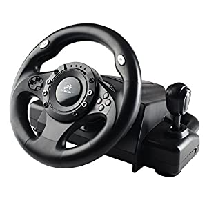 Tracer Drifter Lenkrad Gas Bremspedale Pedale Steering Wheel Vibration Feedback PC PS2 PS3 USB