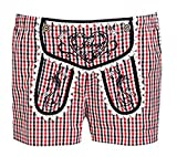 Jockey Damen Pyjama Shorts Schlafshort Lederhosenstyle Rot Weiß kariert Gr.XXL
