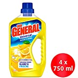 Der General Universal Frische Zitrone Allzweckreiniger, 4er Pack (4 x 750 ml)
