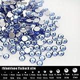 ASTONISH Azul Claro Todos los tamaños (288 – 1440 Piezas), Parte Trasera Plana Piedra no Hot-Fix en decoración de uñas, Boutique Ropa decoración: SS5 1440 Piezas