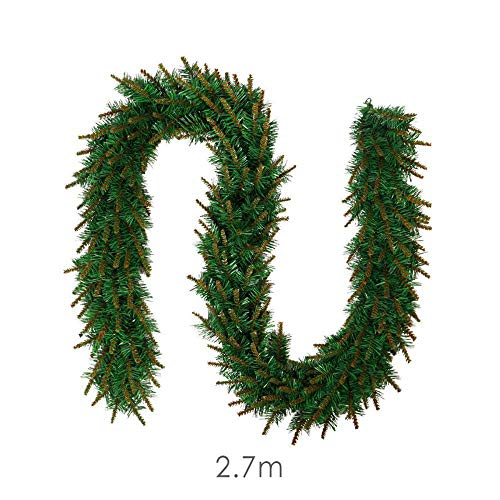 (FLYWS Deko Rattan kreative grün PVC Rattan lebenden Hostel Restaurant Weihnachtsschmuck)