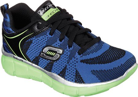 Skechers Equalizer Quick Track, Baskets Basses Garçon Nero (nero)