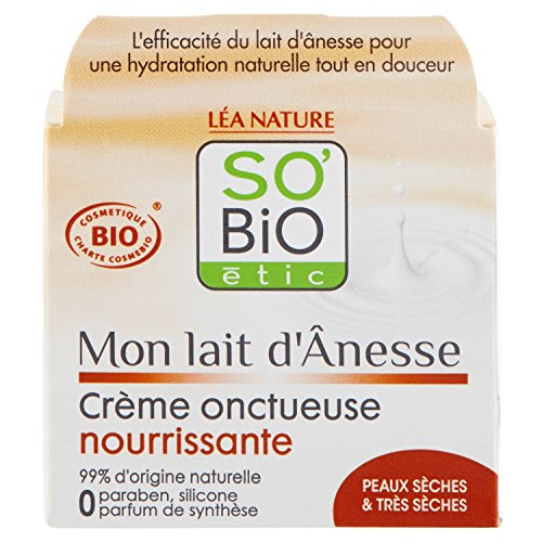 So'Bio Etic Crema densa nutritiva, latte d'asina, 50ml