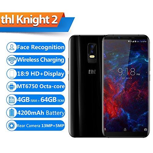 THL Knight 2 4G Tel  fono m  vil Reconocimiento Facial Carga Inalambrica 6 Pulgadas 18  9 HD   Pantalla Octa-core 4GB   64GB Parte Trasera de 4200 MAh
