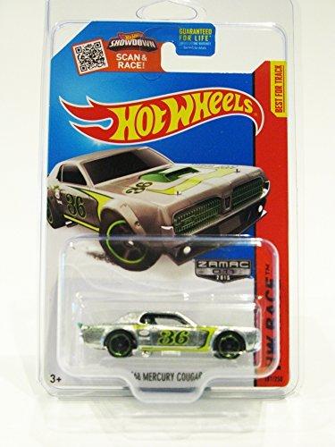2015 Hot Wheels Walmart Exclusive HW Race Track Aces '68 Mercury Cougar ZAMAC 011 #181/250 (ChrGreenMC5 Wheels) in Protecto Pak by Hot Wheels