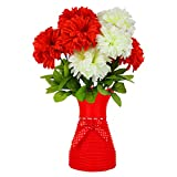 #7: Styles Creation A Bunch Of Artificial Red & White Coronation Flowers/Bonsai/Bouquet/Bunch For Home/Wedding Decoration (ARTFLWR59)