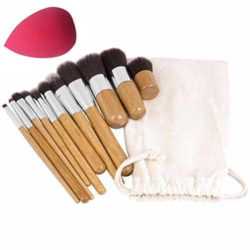 JVJ 11pcs kit de maquillage Outils cosmétiques fard à paupières Teint Pinceaux Ensembles Poudre Makeup Blender