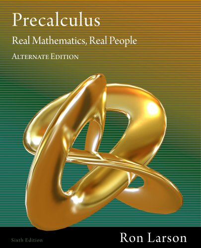 Bundle: Precalculus: Real Mathematics, Real People, Alternate Edition, 6th + Student Solutions Manual