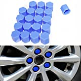 20Kappen aus Silikon Auto Rad Hub 17mm Muttern Felgen Böckchen Schrauben Schraube Rost Hüllen, blau
