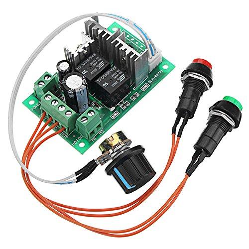 LaDicha Dc 5-30V 10A 300W Pwm Dc Motordrehzahlregler 6V 12V 24V Positiv Und Reverse Switch Electric Push Rod Motor Controller Lock-Freie Schlüssel Steuerrelais Schalter Unterstützung SPS 0-5V