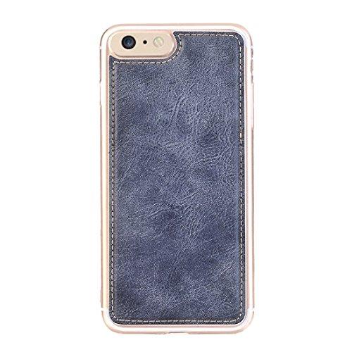 Retro Style verrückte Pferd Textur Horizontale Flip Leder Tasche mit abtrennbarer Rückseite Cover & Zip Fastener & Card Slot & Wallet & Magnetic Buckle für iPhone 6 & 6s by diebelleu ( Color : Brown ) Dark blue