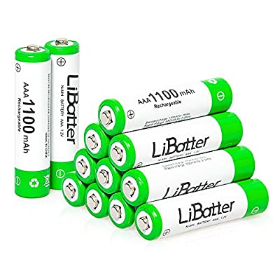 LiBatter AA or AAA Ni-MH Rechargeable Batteries