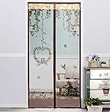 Fliegengitter Tür Insektenschutz Magnet Fliegenvorhang - der Magnetvorhang ist Ideal für die Balkontür, Kellertür, Terrassentür,Moskitonetz für Tür-D 90x200cm(35x79inch)