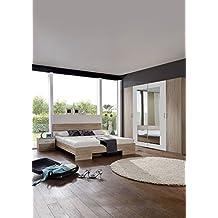 schlafzimmer set advantage ii komplett bett nachtschrnke eiche sgerau abs weiss futonbett nachttisch gre - Modernes Schlafzimmer Komplett