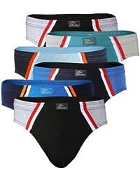 VCA-Textil - Lot de 6 slips de sport pour homme - 100 % coton - Öko-Tex Standard 100