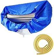 غطاء مقاوم للماء لمكيف الهواء للحماية من الغبار، كيس حماية قابل للغسل والتنظيف مع انبوب ماء (الطول: 320 سم)