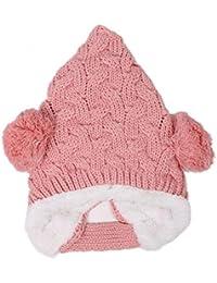 Wuiyepo Bébé Filles Garçons tricoté hiver Hat nourrisson au chaud tressé Cap Crochet