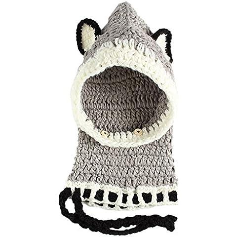 GEMVIE-Berretti a Maglia da Bambini con Animali Cappello Invernale