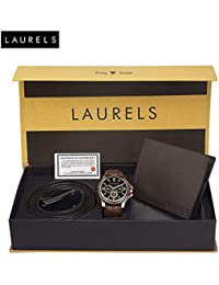 Laurels analogue black Dial Men's Watch