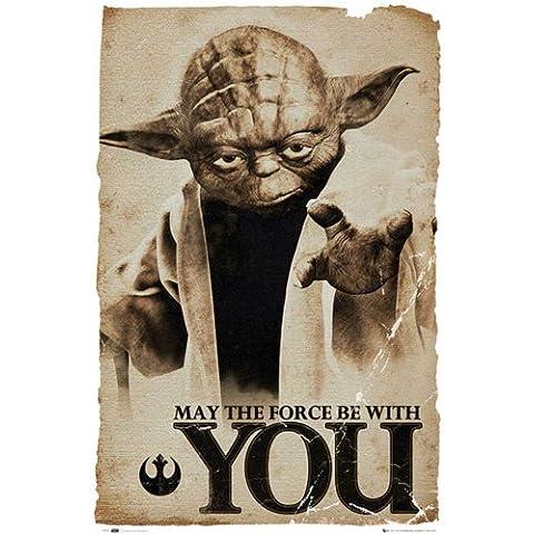 Empire Star Wars Poster Yoda - Póster con diseño de Star Wars (texto en inglés)