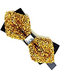 Classique Men's Fashion sparkling crystal rhinestone studied tuxedo bow ties