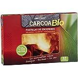 Carcoa Fuego 0327 - Pastillas de encendido ecológicas bio, 19 x 2 x 13 cm, color rojo