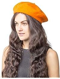 a6ebb4f9e2fab Plain Beret Hat 100% Wool French Beret Winter Autumn Women