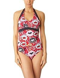 Panache Loren Halterneck Red Swimsuit