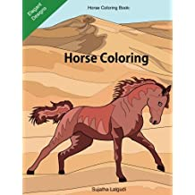 Horse coloring book: Horse coloring: Horse gifts, Horse coloring books for Girls, Horse lover, Stress relieving designs for Adults and Teens, Roan, ... 10 (Beginner coloring books for Adults)