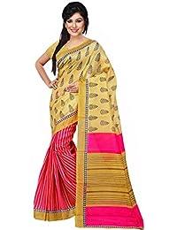 Trendz Cotton Silk Saree (Tz_Akshara_Pink_Pink)