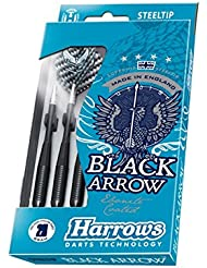 Harrows negro Arrow - Dardo, tamaño 24 g, color negro