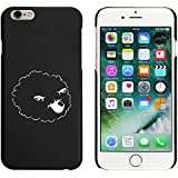 Negro 'Oveja' Funda / Carcasa para iPhone 6 y 6s (MC00015589)