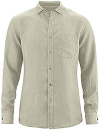 HempAge Damen Strickshirt mit V-Ausschnitt aus reinem Hanf