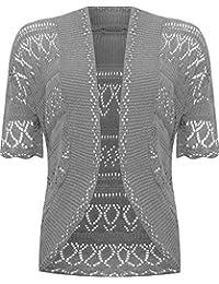 f64c1ee332 VR7 Ladies Knitted Bolero Crochet Cardigan Shrug