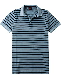 Strellson Sportswear Herren Polo-Shirt J-Pong-1 Baumwolle T-Shirt Gestreift, Größe: XXL, Farbe: Blau