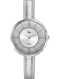 Go Girl Only–698680Damen-Armbanduhr 045J699Analog silber–Armband Leder Silber