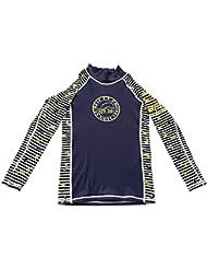 Surfit - Camiseta de manga larga con protección solar para bebés azul azul y blanco Talla:L 6-7 años