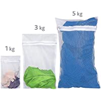 ArtMoon Trio Set de 3 Sac Filet Linge Delicat Sachet Lavage 25X40cm 50X70cm 60X90cm