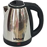 Kitchoff Automatic Stainless Steel Electric Kettle, 1.8 L (Kl4, Silver)