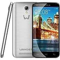 Wander USA Smartphone W6 - Dual Sim Mobile Phone Smart Phone Cell Phones - Garanzia Italiana 2 anni - 64bit quad core CPU, 2GB RAM + 16GB ROM con display 5.0 pollici 1280*720 qHD, Android 5.1 OS. 8.0MP fotocamera anteriore, 13.0MP fotocamera posteriore