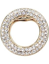 sewanz Damen-Charm Kreis mit Metallic Schals Schnalle, Seide Dual Zweck Schal Clip Broschen