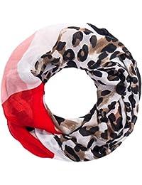 147c89fca1e3f Faera Leoparden-Muster weicher und leichter Damen Sommer-Schal Loopschal  Rundschal in verschiedenen…