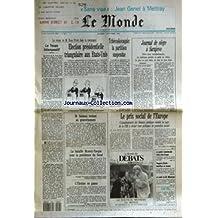 MONDE (LE) [No 14831] du 03/10/1992 - ELECTION PRESIDENTIELLE TRIANGULAIRE AUX ETATS-UNIS - TCHECOSLOVAQUIE - LA PARTITION SUSPENDUE - JOURNAL DE SIEGE A SARAJEVO YVES HELLER - LE TEXAN INTEMPESTIF - LE PRIX SOCIAL DE L'EUROPE PAR JEAN-MICHEL NORMAND - M. SOISSON REVIENT AU GOUVERNEMENT - LA BATAILLE MONORY-PASQUA POUR LA PRESIDENCE DU SENAT - L'UKRAINE EN PANNE - LA GUERRE COMMERCIALE ETATS-UNIS-EUROPE - PEUGEOT-CITROEN - BENEFICES EN HAUSSE - LA SANTE DE M. MITTERRAND.