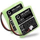 2x subtel® Batería premium para AVM Fritz Fon MT-D, Audioline Slim DECT 500 502 580 582, Telekom Sinus 201 / A201, Doro TH50 TH60 (600mAh) 5M702BMX,GP0735,GP0747,GP0827 bateria de repuesto, pila reemplazo, sustitución